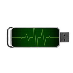 Heart Rate Green Line Light Healty Portable USB Flash (Two Sides)