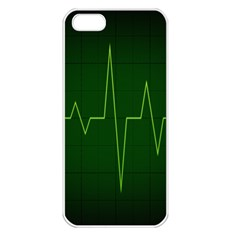 Heart Rate Green Line Light Healty Apple iPhone 5 Seamless Case (White)