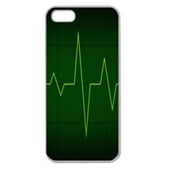 Heart Rate Green Line Light Healty Apple Seamless iPhone 5 Case (Clear)