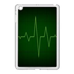Heart Rate Green Line Light Healty Apple iPad Mini Case (White)