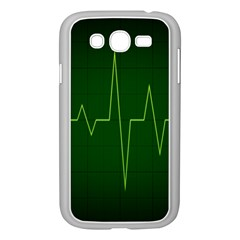 Heart Rate Green Line Light Healty Samsung Galaxy Grand DUOS I9082 Case (White)