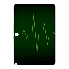 Heart Rate Green Line Light Healty Samsung Galaxy Tab Pro 12.2 Hardshell Case