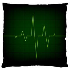 Heart Rate Green Line Light Healty Standard Flano Cushion Case (Two Sides)
