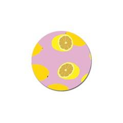 Fruit Lemons Orange Purple Golf Ball Marker