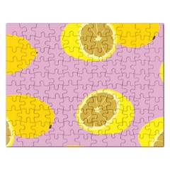 Fruit Lemons Orange Purple Rectangular Jigsaw Puzzl