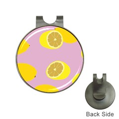 Fruit Lemons Orange Purple Hat Clips with Golf Markers