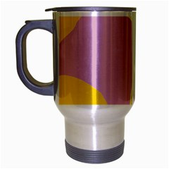 Fruit Lemons Orange Purple Travel Mug (Silver Gray)