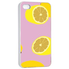 Fruit Lemons Orange Purple Apple iPhone 4/4s Seamless Case (White)