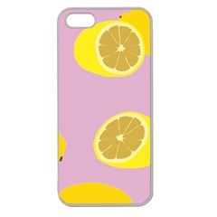 Fruit Lemons Orange Purple Apple Seamless iPhone 5 Case (Clear)