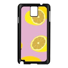 Fruit Lemons Orange Purple Samsung Galaxy Note 3 N9005 Case (Black)