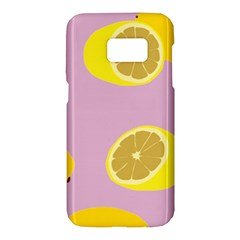 Fruit Lemons Orange Purple Samsung Galaxy S7 Hardshell Case