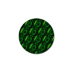 Green Eye Line Triangle Poljka Golf Ball Marker (4 pack)