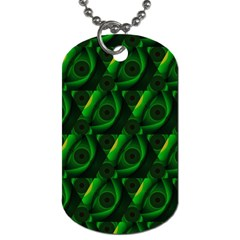 Green Eye Line Triangle Poljka Dog Tag (Two Sides)