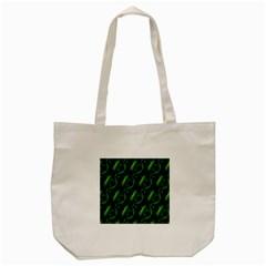 Green Eye Line Triangle Poljka Tote Bag (Cream)