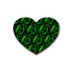 Green Eye Line Triangle Poljka Heart Coaster (4 pack)