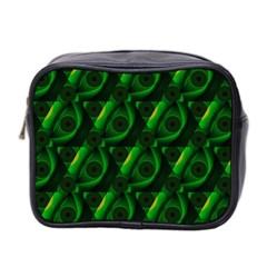 Green Eye Line Triangle Poljka Mini Toiletries Bag 2-Side