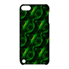 Green Eye Line Triangle Poljka Apple iPod Touch 5 Hardshell Case with Stand