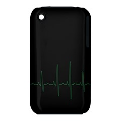 Heart Rate Line Green Black Wave Chevron Waves iPhone 3S/3GS