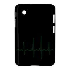 Heart Rate Line Green Black Wave Chevron Waves Samsung Galaxy Tab 2 (7 ) P3100 Hardshell Case