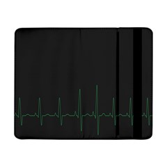 Heart Rate Line Green Black Wave Chevron Waves Samsung Galaxy Tab Pro 8.4  Flip Case