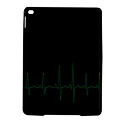 Heart Rate Line Green Black Wave Chevron Waves iPad Air 2 Hardshell Cases
