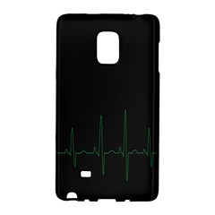 Heart Rate Line Green Black Wave Chevron Waves Galaxy Note Edge