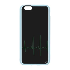 Heart Rate Line Green Black Wave Chevron Waves Apple Seamless iPhone 6/6S Case (Color)