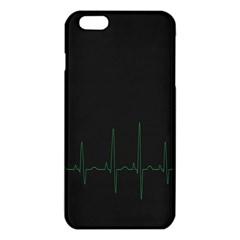 Heart Rate Line Green Black Wave Chevron Waves iPhone 6 Plus/6S Plus TPU Case