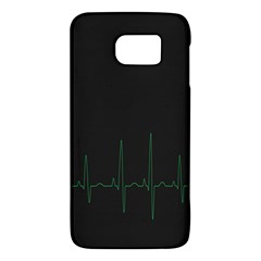 Heart Rate Line Green Black Wave Chevron Waves Galaxy S6