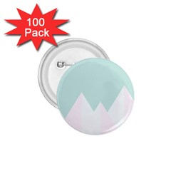 Montain Blue Snow Chevron Wave Pink 1.75  Buttons (100 pack)
