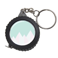 Montain Blue Snow Chevron Wave Pink Measuring Tapes