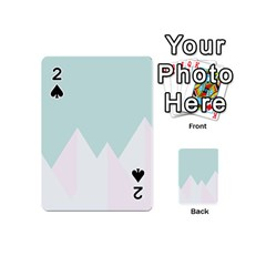Montain Blue Snow Chevron Wave Pink Playing Cards 54 (Mini)
