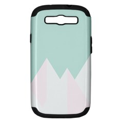 Montain Blue Snow Chevron Wave Pink Samsung Galaxy S III Hardshell Case (PC+Silicone)