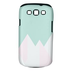 Montain Blue Snow Chevron Wave Pink Samsung Galaxy S III Classic Hardshell Case (PC+Silicone)