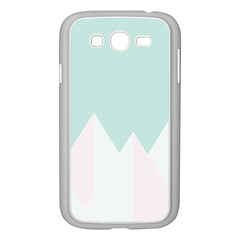 Montain Blue Snow Chevron Wave Pink Samsung Galaxy Grand DUOS I9082 Case (White)
