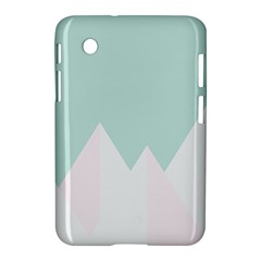 Montain Blue Snow Chevron Wave Pink Samsung Galaxy Tab 2 (7 ) P3100 Hardshell Case