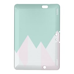 Montain Blue Snow Chevron Wave Pink Kindle Fire HDX 8.9  Hardshell Case