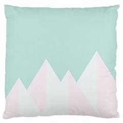 Montain Blue Snow Chevron Wave Pink Large Flano Cushion Case (One Side)