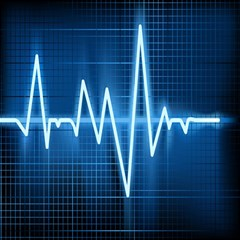 Heart Monitoring Rate Line Waves Wave Chevron Blue Magic Photo Cubes