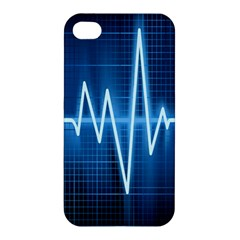 Heart Monitoring Rate Line Waves Wave Chevron Blue Apple iPhone 4/4S Hardshell Case