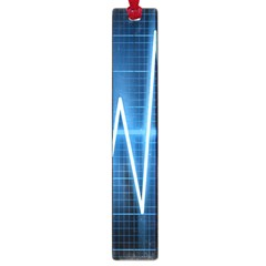 Heart Monitoring Rate Line Waves Wave Chevron Blue Large Book Marks