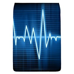 Heart Monitoring Rate Line Waves Wave Chevron Blue Flap Covers (L)
