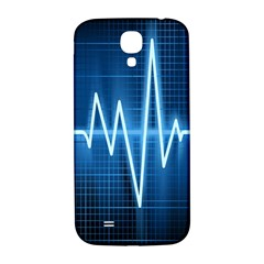Heart Monitoring Rate Line Waves Wave Chevron Blue Samsung Galaxy S4 I9500/I9505  Hardshell Back Case