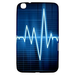 Heart Monitoring Rate Line Waves Wave Chevron Blue Samsung Galaxy Tab 3 (8 ) T3100 Hardshell Case
