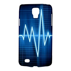 Heart Monitoring Rate Line Waves Wave Chevron Blue Galaxy S4 Active