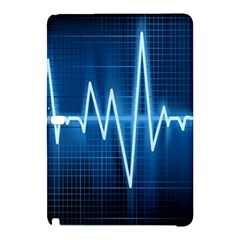 Heart Monitoring Rate Line Waves Wave Chevron Blue Samsung Galaxy Tab Pro 10.1 Hardshell Case