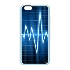 Heart Monitoring Rate Line Waves Wave Chevron Blue Apple Seamless iPhone 6/6S Case (Color)