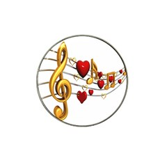 Music Notes Heart Beat Hat Clip Ball Marker (10 pack)