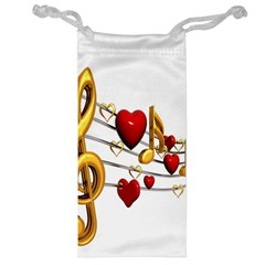 Music Notes Heart Beat Jewelry Bag