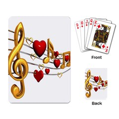 Music Notes Heart Beat Playing Card